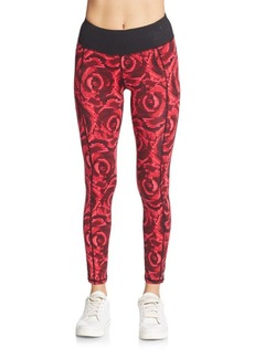 Betsey Johnson Performance Digital Floral-Print Leggings