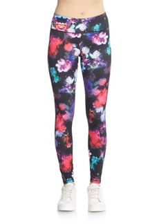 Betsey Johnson Performance Floral-Print Leggings