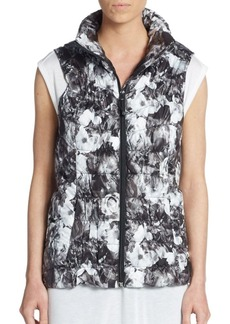 Betsey Johnson Performance Floral Quilted Down Vest