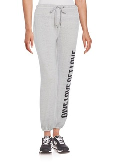 Betsey Johnson Performance Give Love Get Love Sweatpants