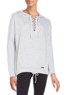 Betsey Johnson Performance Lace-Up Hoodie