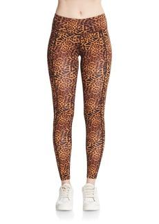Betsey Johnson Performance Leopard-Print Leggings