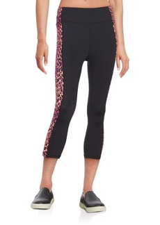Betsey Johnson Performance Leopard-Print Side Panel Leggings