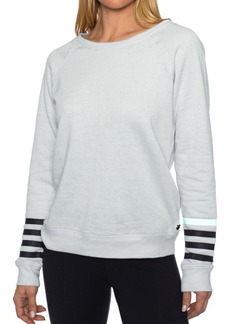 Betsey Johnson Logo Stipe Icy Wash Pullover