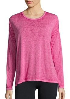 Betsey Johnson Long Sleeve Strappy Back Top