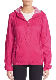 Betsey Johnson Performance Mesh Paneled Windbreaker Jacket