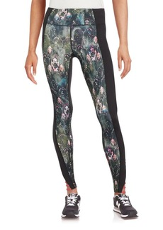 Betsey Johnson Performance Moroccan Tile Printed Skinny-Fit Leggings