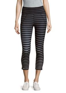 Betsey Johnson Ombre-Stripe Cropped Leggings
