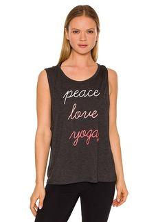 Betsey Johnson® Performance Peace Love Yoga Tank