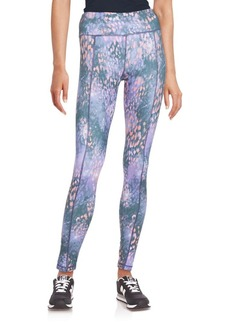 Betsey Johnson Performance Printed Ankle-Length Leggings
