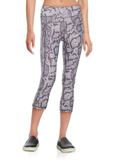 Betsey Johnson Performance Python Cropped Leggings