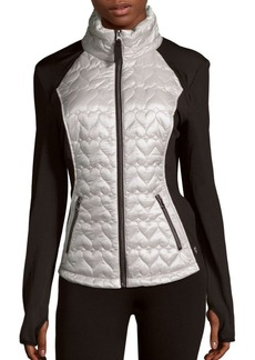 Betsey Johnson Performance Quilted Long-Sleeve Jacket