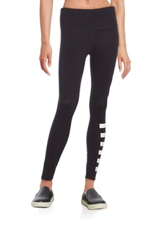 Betsey Johnson Performance Reflective Logo Leggings
