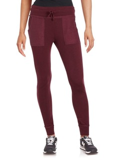 Betsey Johnson Performance Solid Drawstring Leggings