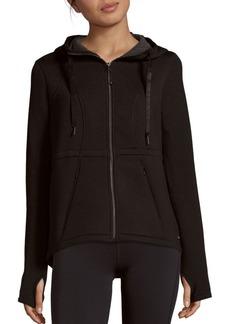 Betsey Johnson Performance Tech Long-Sleeve Solid Jacket