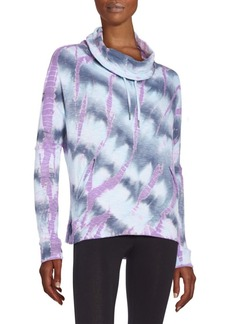 Betsey Johnson Performance Tie-Dyed Cowlneck Pullover
