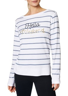 Betsey Johnson Performance Weekend Striped Pullover
