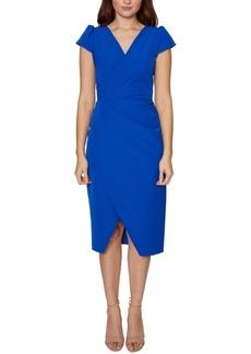 Betsey Johnson Petite Cap-Sleeve A-Line Dress