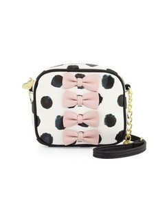 Betsey Johnson Petite Chic Bow Camera Crossbody Bag