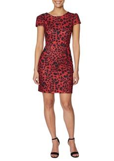 Betsey Johnson V-Back Leopard-Print Dress