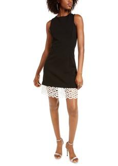 Betsey Johnson Petite Lip-Lace Sheath Dress