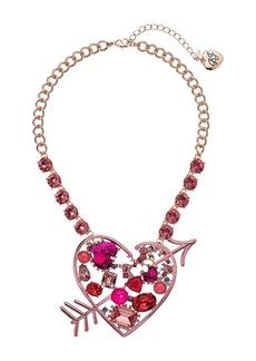 Betsey Johnson Pink Heart Pendant Necklace