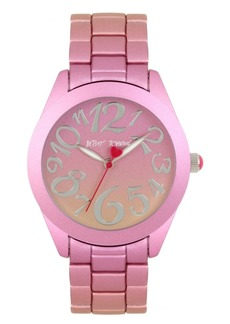 Betsey Johnson Pink & Orange Stainless Steel Case Watch