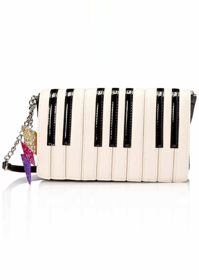 Betsey Johnson Play It Again Betsey Crossbody Bag black/white