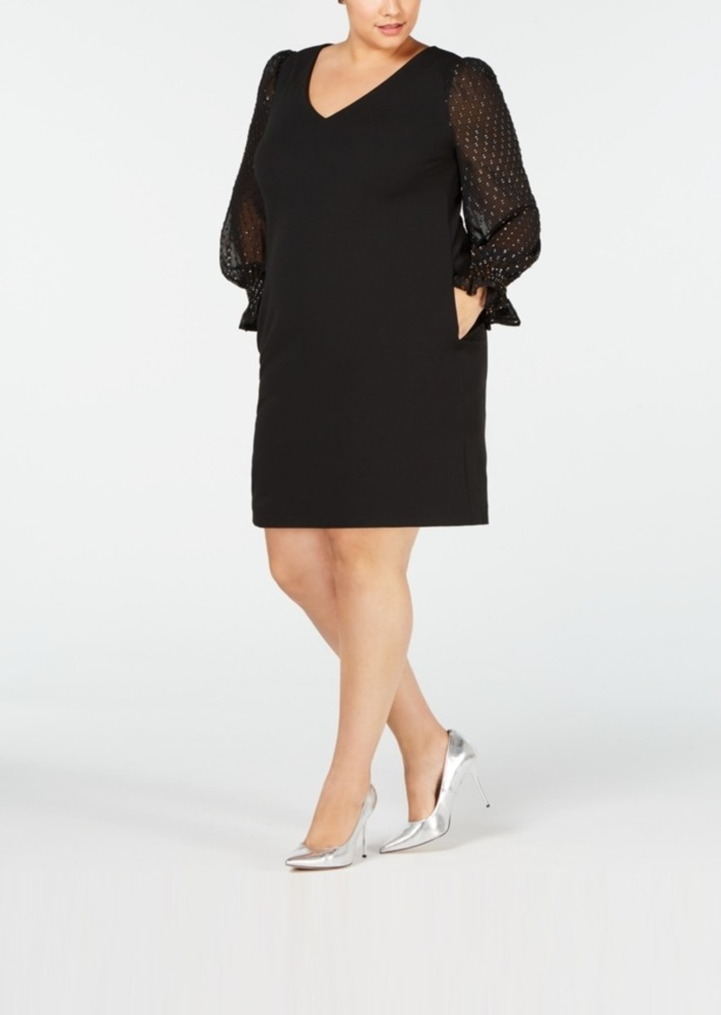 Betsey Johnson Betsey Johnson Plus Size Illusion-Sleeve Dress | Dresses
