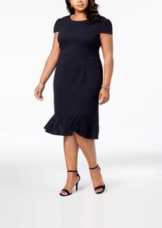 Betsey Johnson Plus Size Ruffled-Hem Midi Dress