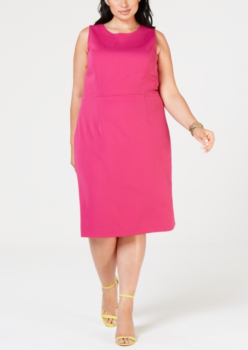 Plus Size Scuba Sheath Dress