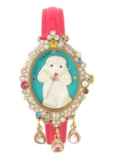 Betsey Johnson Poodle Motif Dial Watch