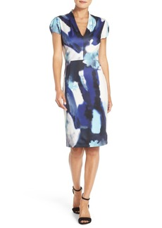 Betsey Johnson Print Scuba Sheath Dress