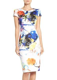 Betsey Johnson Print Scuba Sheath Dress