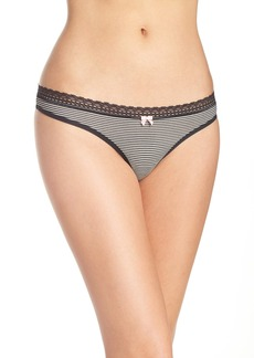 Betsey Johnson Print Thong