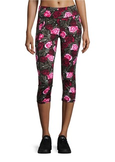 BETSEY JOHNSON Printed Cropped Athletic Leggings
