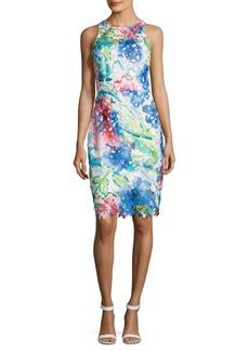 Betsey Johnson Printed Lace Dress