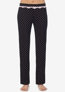 Betsey Johnson Printed Lace-Trim Pajama Pants