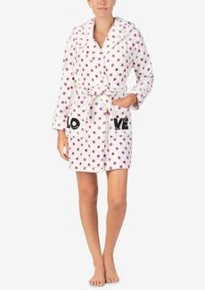 Betsey Johnson Printed Plush Short Robe