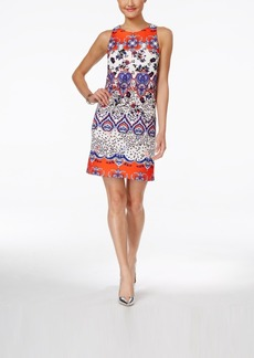 Betsey Johnson Printed Scuba Shift Dress