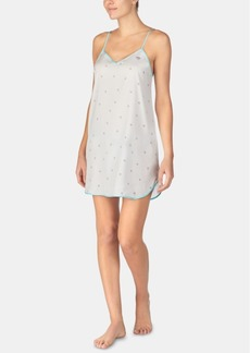 Betsey Johnson Printed V-Neck Chemise Nightgown