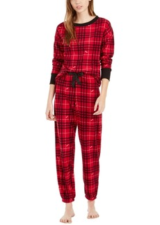 Betsey Johnson Printed Waffle Fleece Pajamas Set