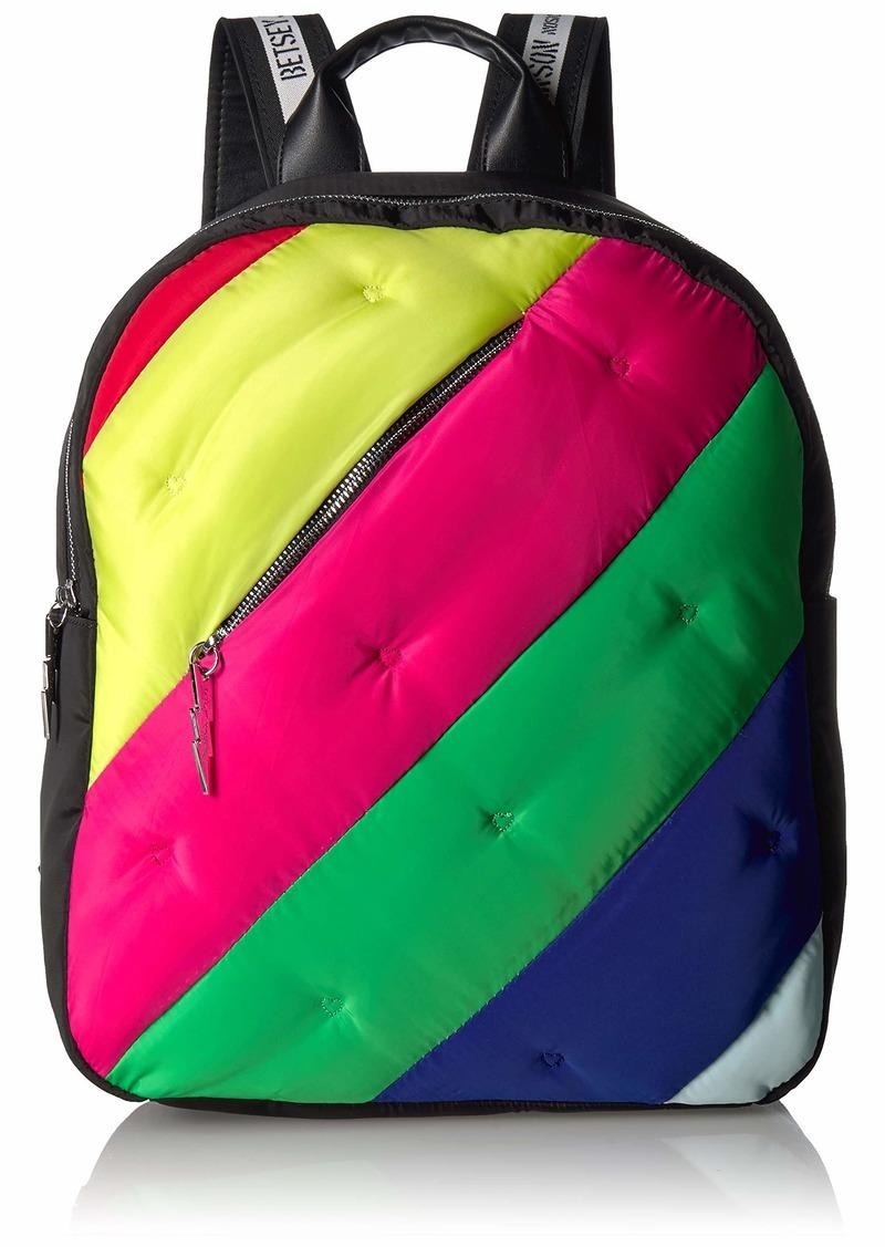 Betsey Johnson Prismatic Fanatic Large Backpack