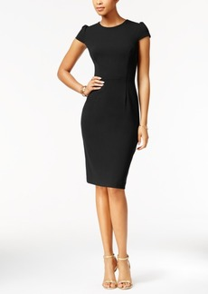 Betsey Johnson Puff-Sleeve Scuba Dress, A Macy's Exclusive Style