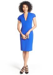 Betsey Johnson Puffed Sleeve Scuba Sheath Dress