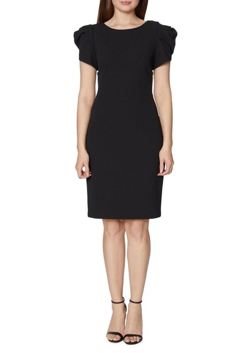 Betsey Johnson Puffed-Sleeve Sheath Dress