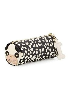Betsey Johnson Pug Faux-Leather Pencil Case