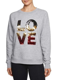 Betsey Johnson Pullover Cotton-Blend Sweatshirt