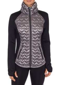 Betsey Johnson Quilted Long-Sleeve Jacket