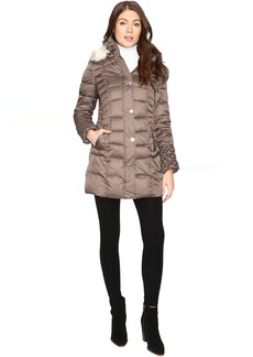 Betsey Johnson Quilted Puffer w/ Fur Hood
